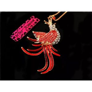 Betsey Johnson Beautiful Jeweled Phoenix Necklace